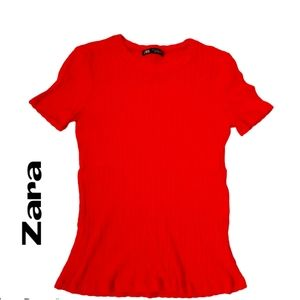 Zara Red Top - Size Small
